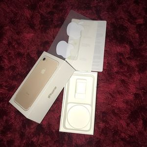 Gold iPhone 7 Retail Box and Stickers